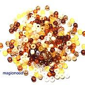 Материалы для творчества handmade. Livemaster - original item 10 grams 8/0 Miyuki MIX 22 honey Japanese seed beads Miyuki round mix. Handmade.