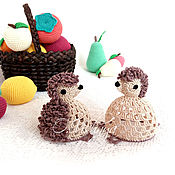 Сувениры и подарки handmade. Livemaster - original item Fishnet hedgehogs! (set of 2 PCs.). Handmade.