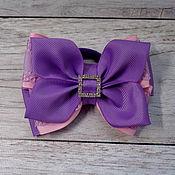 """Резинка для волос ручной работы. Ярмарка Мастеров - ручная работа Резинка для волос: Бантик  """"Фиолетовый"""". Handmade."""