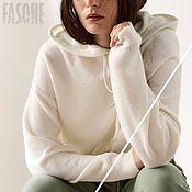 Одежда handmade. Livemaster - original item Jerseys: White Baby Alpaca Sweater Women`s Sweater. Handmade.