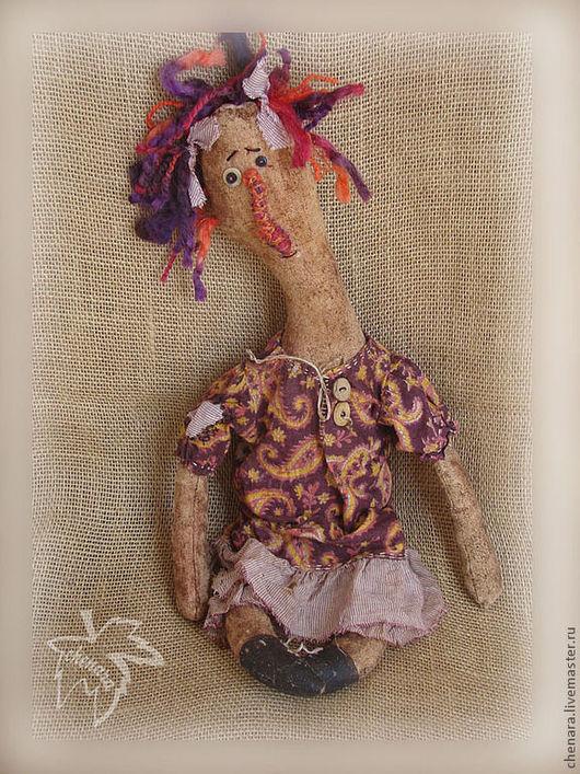 Куклы и игрушки ручной работы. Ярмарка Мастеров - ручная работа. Купить Лиззи - старая кукла. Handmade. Кофейный, текстильная кукла