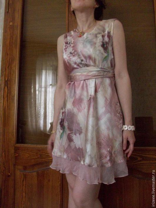 Платья ручной работы. Ярмарка Мастеров - ручная работа. Купить Платье шелковое. Handmade. Платье коктейльное, сиренево-розовый