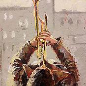 Картины и панно handmade. Livemaster - original item Oil painting on canvas palette knife