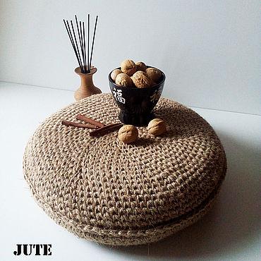 Textiles handmade. Livemaster - original item Pillow outdoor Round. Handmade.