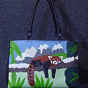 Сумки и аксессуары handmade. Livemaster - original item Leather bag Red Panda. Handmade.