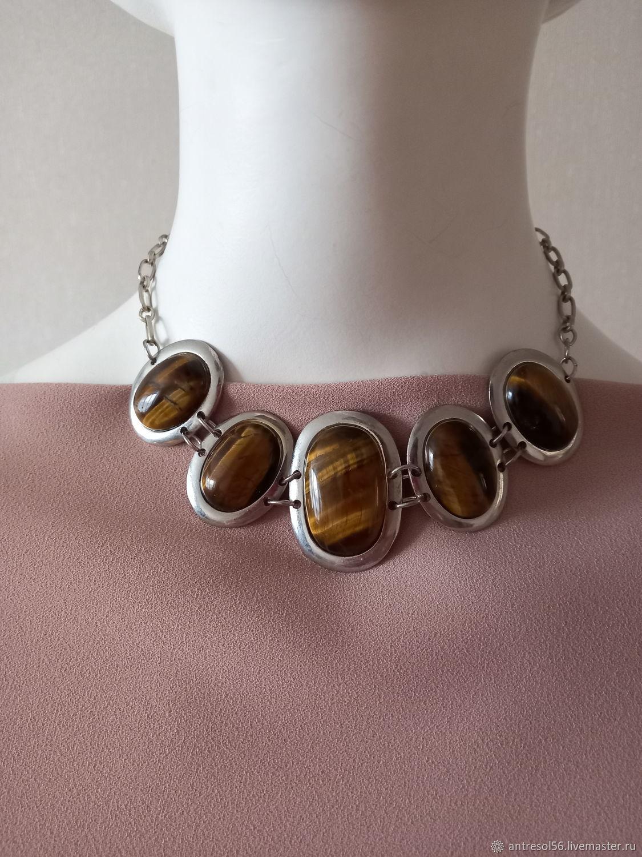 Vintage necklace ' Cat's Eye', Vintage necklace, Orenburg,  Фото №1