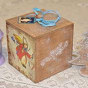 Для дома и интерьера ручной работы. Ярмарка Мастеров - ручная работа Новогодние коробы. Handmade.