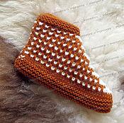 Обувь ручной работы handmade. Livemaster - original item Chuni knitted No. №3 (with the addition of goat down). Handmade.