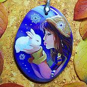 Украшения handmade. Livemaster - original item White Rabbit. Pendants with miniature. Handmade.