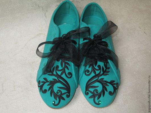 Обувь ручной работы. Ярмарка Мастеров - ручная работа. Купить Спортивная текстильная обувь может быть элегантной!. Handmade. Текстильная обувь