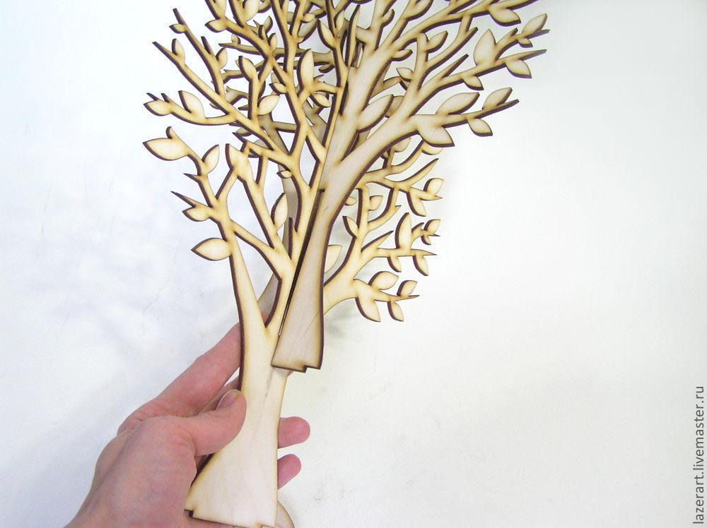 Как сделать своими руками объемное дерево на стену 772