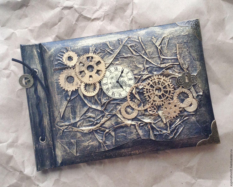 Photo Albums handmade. Livemaster - handmade. Buy Steampunk photo album.Steampunk, bronze, cardboard, metal hardware, corners metal