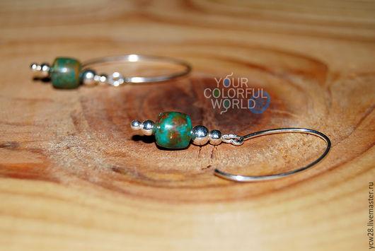 Серьги ручной работы. Ярмарка Мастеров - ручная работа. Купить Аризона / сережки // Arizona / earrings. Handmade.