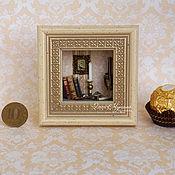 Картины и панно ручной работы. Ярмарка Мастеров - ручная работа Рамка объемная с миниатюрой 5х5 см.. Handmade.