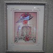 """Картины и панно ручной работы. Ярмарка Мастеров - ручная работа Частичная вышивка бисером """"Тайна"""". Handmade."""