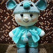 Мягкие игрушки ручной работы. Ярмарка Мастеров - ручная работа Пупс в костюме мышки. Handmade.