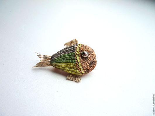 брошь `Рыба`№1 серия `Фантазийные броши`