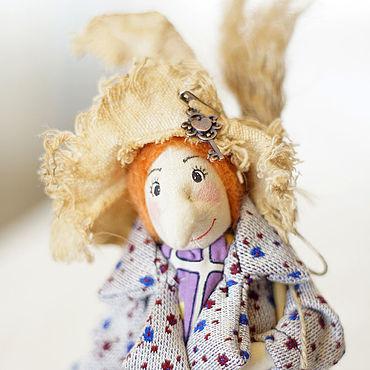 Dolls & toys handmade. Livemaster - original item Miniature toys: Witch Baba Yaga with a broom. Handmade.