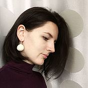 Украшения handmade. Livemaster - original item Earrings felted Snowballs. Handmade.