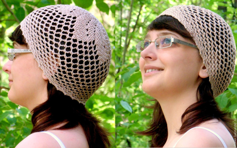 Вязанные головные уборы схема фото