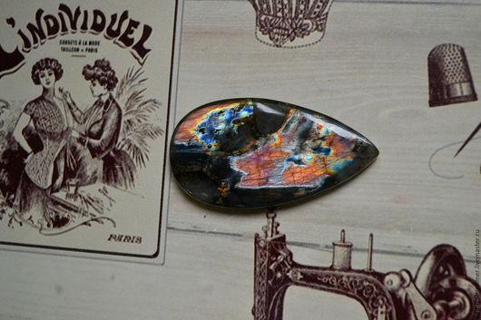 Для украшений ручной работы. Ярмарка Мастеров - ручная работа. Купить Лабрадорит спектролит. Кабошон 56 Х 30 Х 5. Handmade.