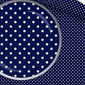 """Материалы для творчества ручной работы. Ярмарка Мастеров - ручная работа Польский Хлопок 100% """"Горошек на синем"""" В наличии.. Handmade."""