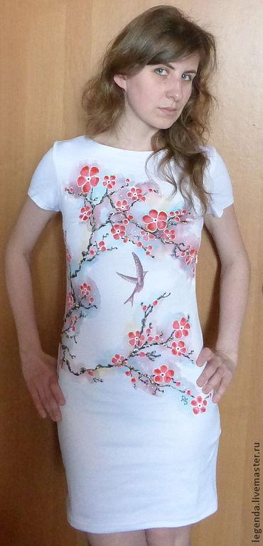 """Платья ручной работы. Ярмарка Мастеров - ручная работа. Купить """"Цветение сакуры"""". Handmade. Белый, платье, нарядное платье"""
