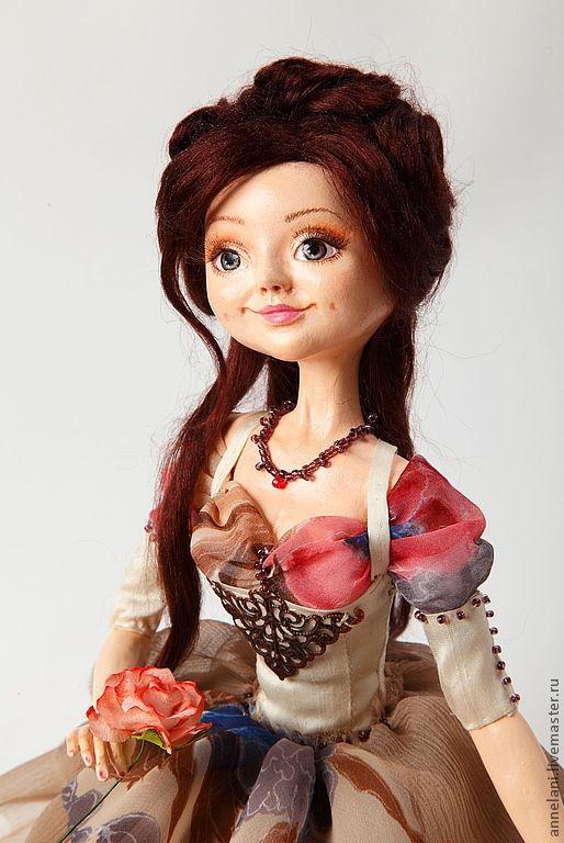 Коллекционные куклы ручной работы. Ярмарка Мастеров - ручная работа. Купить Ma fleur (Мой цветок). Handmade. Бежевый