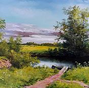 Картины и панно handmade. Livemaster - original item Oil painting Landscape _na Rybalko author`s work. Handmade.