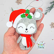 Сувениры и подарки handmade. Livemaster - original item A mouse in a scarf is a symbol of 2020. Mouse felt. Handmade.