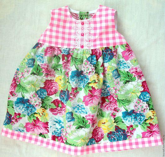 """Одежда для девочек, ручной работы. Ярмарка Мастеров - ручная работа. Купить платье """"Букет"""". Handmade. Бледно-розовый, подарок девочке"""