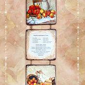 """Для дома и интерьера ручной работы. Ярмарка Мастеров - ручная работа Триптих """"Фруктовый"""". 2 вида. Handmade."""