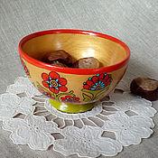 """Посуда ручной работы. Ярмарка Мастеров - ручная работа Мисочка деревянная """"Аленький цветочек"""". Handmade."""