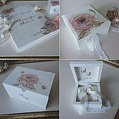 Свадебный салон ручной работы. Ярмарка Мастеров - ручная работа Комплект свадебных аксессуаров Shabby rose. Handmade.
