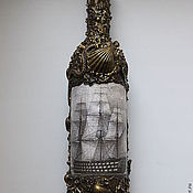 Подарки к праздникам ручной работы. Ярмарка Мастеров - ручная работа Декор  бутылки. Handmade.