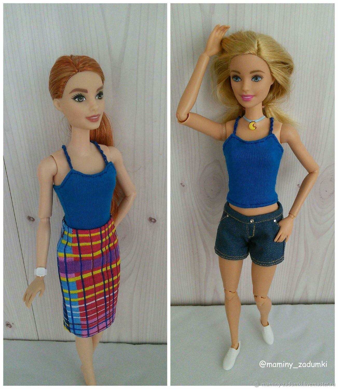 For Barbie, shorts, top and skirt with lining, Clothes for dolls, Ivanovo,  Фото №1