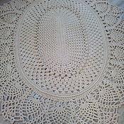 Ковры ручной работы. Ярмарка Мастеров - ручная работа Овальный ковер с ананасами. Handmade.