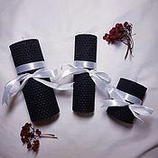 Свечи ручной работы. Ярмарка Мастеров - ручная работа Набор из трех чёрных свечей. Handmade.