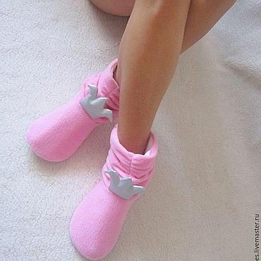 """Обувь ручной работы. Ярмарка Мастеров - ручная работа Домашние угги """"Принцесса на горошине"""". Handmade."""