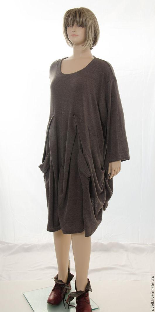 Большие размеры ручной работы. Ярмарка Мастеров - ручная работа. Купить Бохо шик платье Карманы / Сумки стильно интересно необычно броско. Handmade.