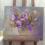 Картины ручной работы. Ярмарка Мастеров - ручная работа Цветы в банке. Handmade.