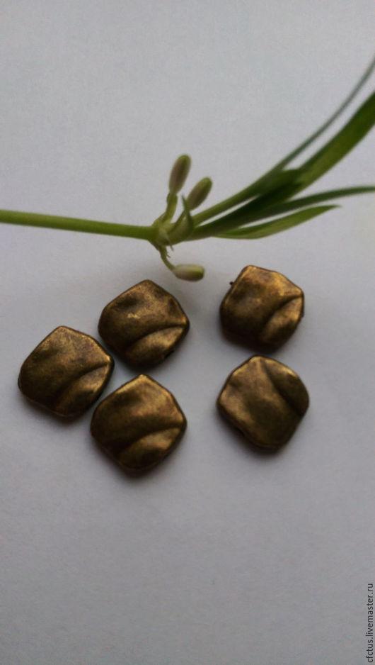 Для украшений ручной работы. Ярмарка Мастеров - ручная работа. Купить Бусина античная бронза 11 х 10 мм. Handmade.