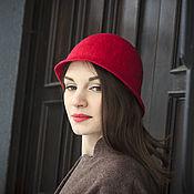"""Шляпы ручной работы. Ярмарка Мастеров - ручная работа Валяная шляпка """"Яркая"""". Handmade."""