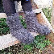 Носки пуховые (пух кольцами - VIP) из козьего пуха