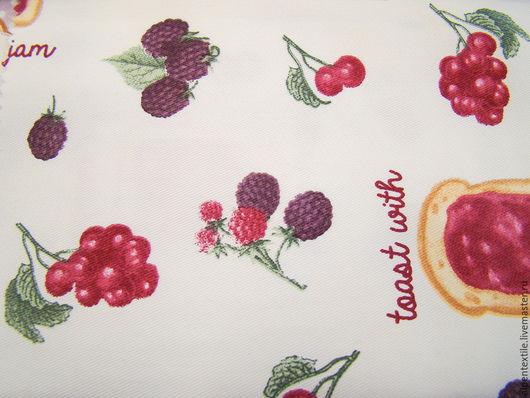 Текстиль, ковры ручной работы. Ярмарка Мастеров - ручная работа. Купить Blackberry. Handmade. Белый, фрукты, скатерть, шторы