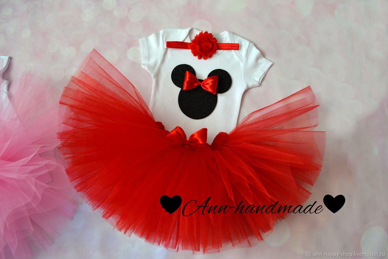 Комплект Минни Маус, наряд в стиле Минни Маус, пышная юбка