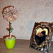 Цветы и флористика ручной работы. Ярмарка Мастеров - ручная работа Топиарий из фисташек Фисташковый цветок. Handmade.