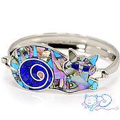Украшения handmade. Livemaster - original item Bracelet CAT. Bracelet with lapis lazuli, turquoise, mother of pearl.. Handmade.
