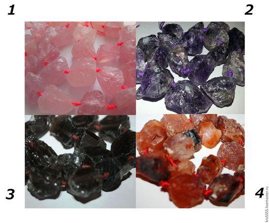 1.розовый кварц 2. аметист 3. раухтопаз 4.сердолик