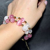 Украшения handmade. Livemaster - original item Rose Quartz Natural Stone. Bracelet in two rows. Handmade.